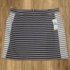 Tommy Hilfiger navy blue colorblock skirt New nwt